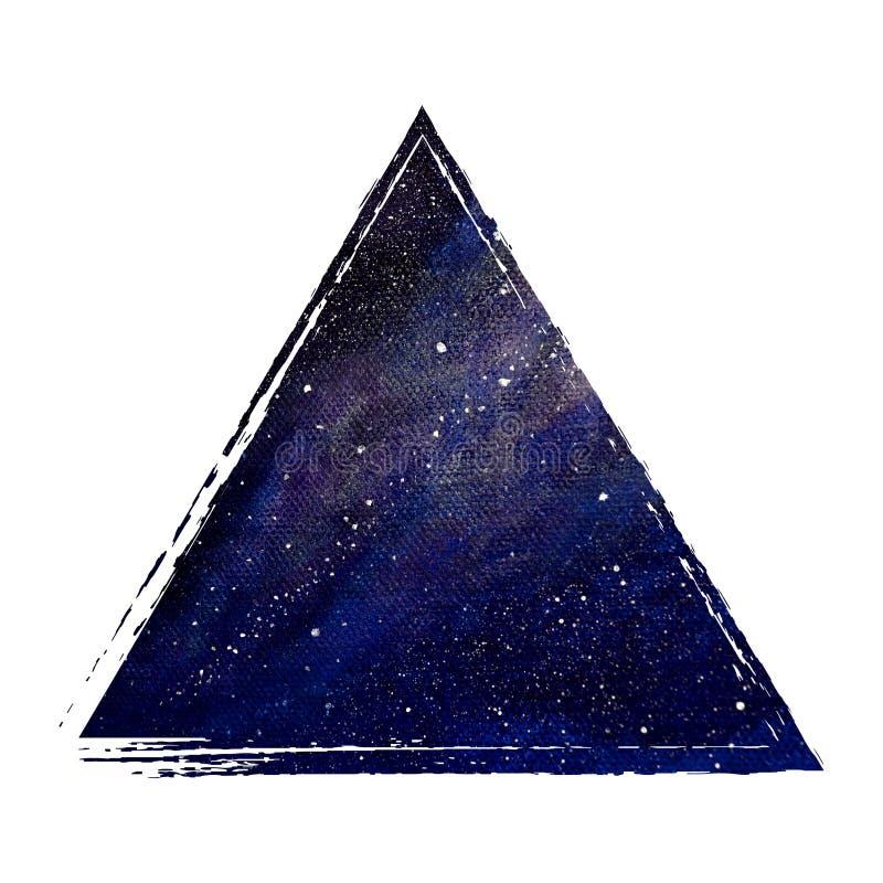 Fundo da geometria de espaço Ilustração do espaço na figura Molde para cart?es e cartazes Imagem c?smica ilustração royalty free