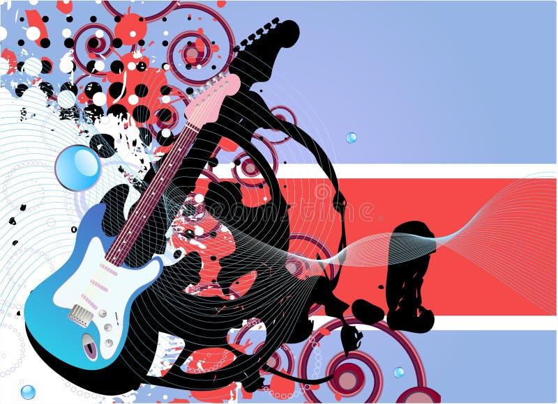 Fundo da guitarra ilustração stock