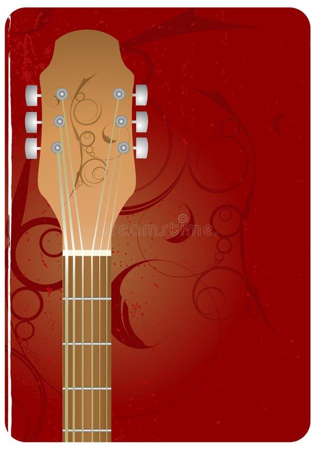 Fundo da guitarra ilustração do vetor