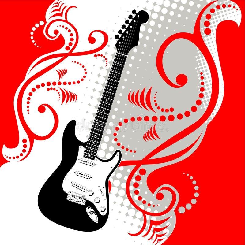 Fundo da guitarra e da música ilustração do vetor
