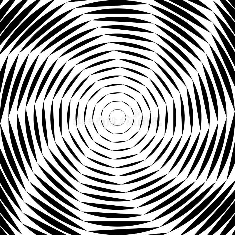 Fundo da ilusão do movimento do giro do projeto ilustração stock