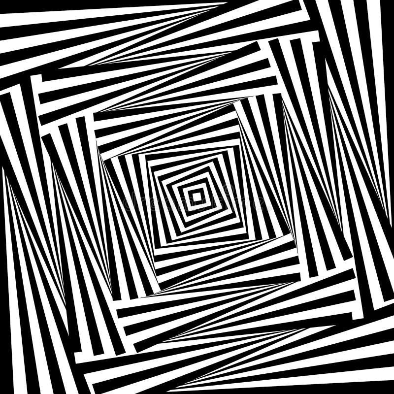 Fundo da ilusão do movimento do redemoinho do projeto ilustração stock