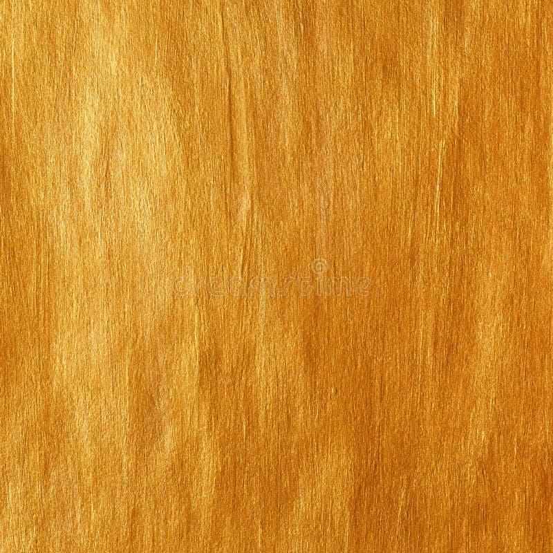 Fundo da ilustração do sumário da mancha da pintura da textura da aquarela do ouro Curso de brilho da escova para você projeto de imagens de stock