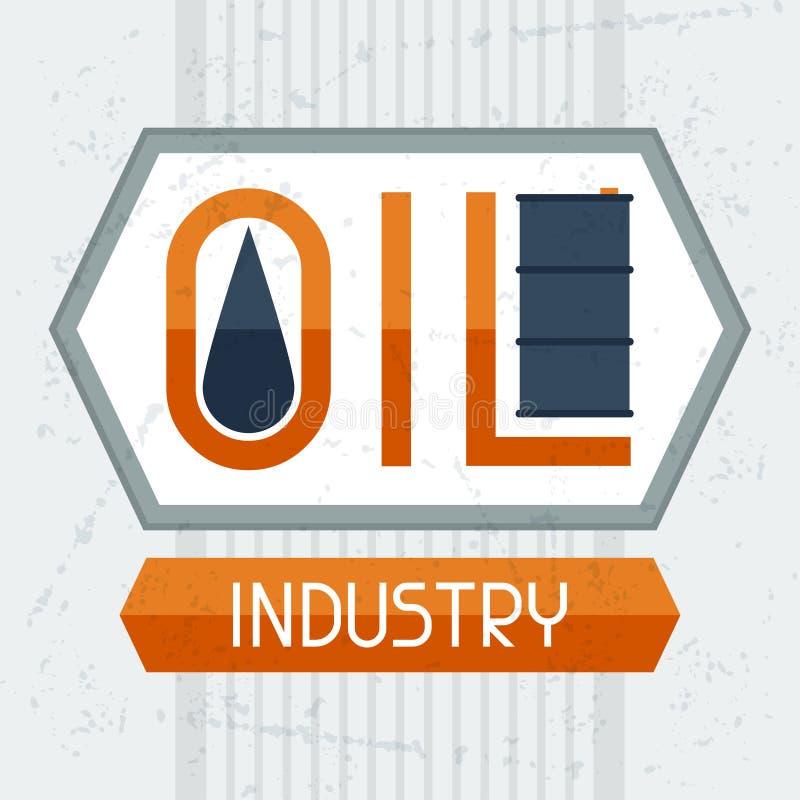 Fundo da indústria petroleira ilustração do vetor
