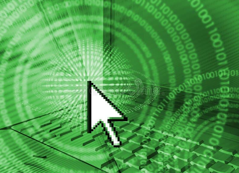 Fundo da informática - verde ilustração royalty free