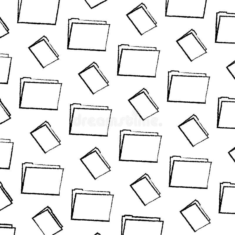 Fundo da informação do escritório do arquivo do dobrador do Grunge ilustração royalty free