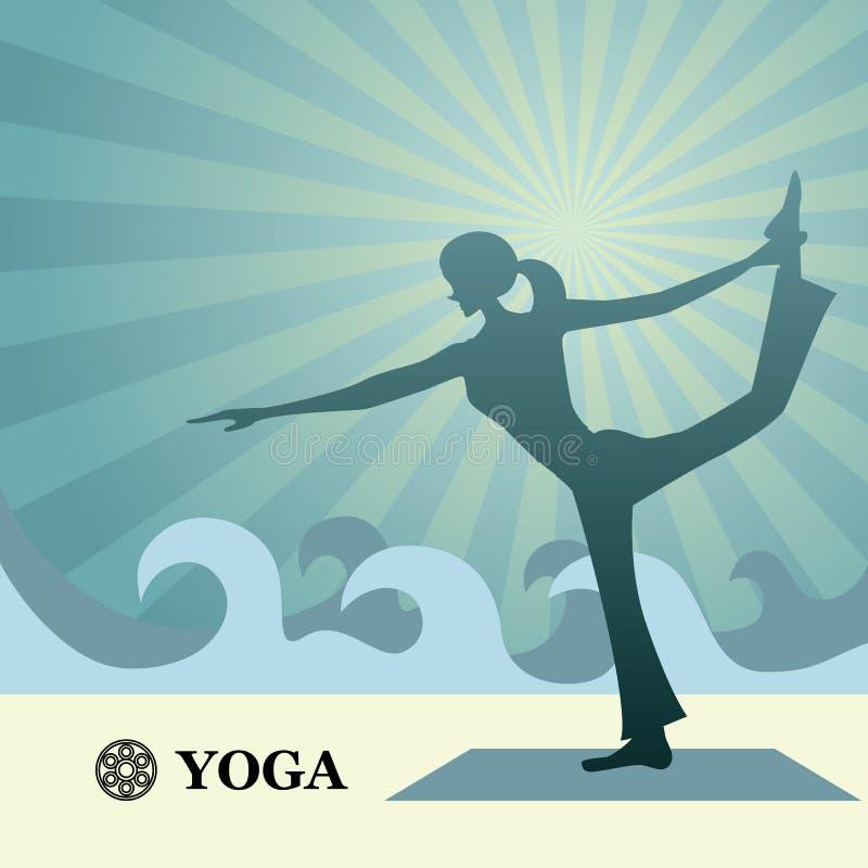 Fundo da ioga e dos pilates ilustração stock