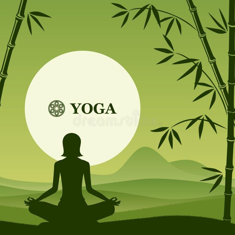 Fundo da ioga e dos pilates ilustração royalty free