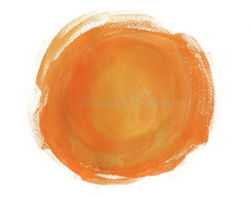 Fundo da laranja da aquarela ilustração royalty free
