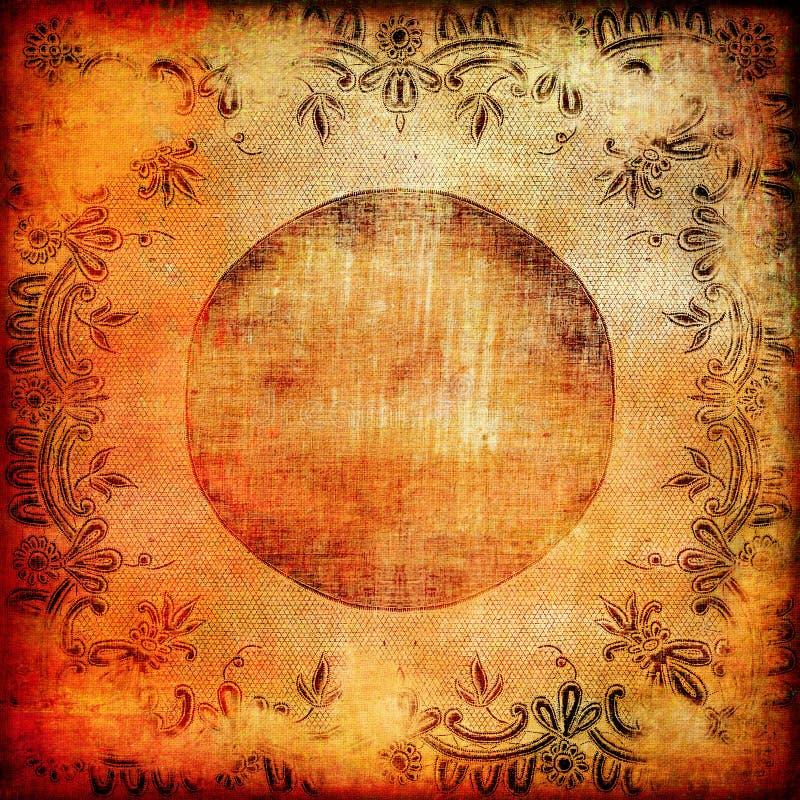 Fundo da laranja do vintage ilustração stock