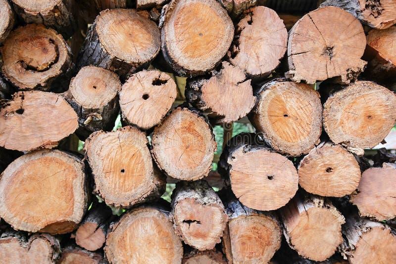 Fundo da lenha empilhado na madeira do corte, madeira, lenha imagens de stock