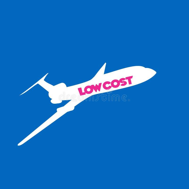 Fundo da linha aérea do baixo custo da mosca ilustração royalty free