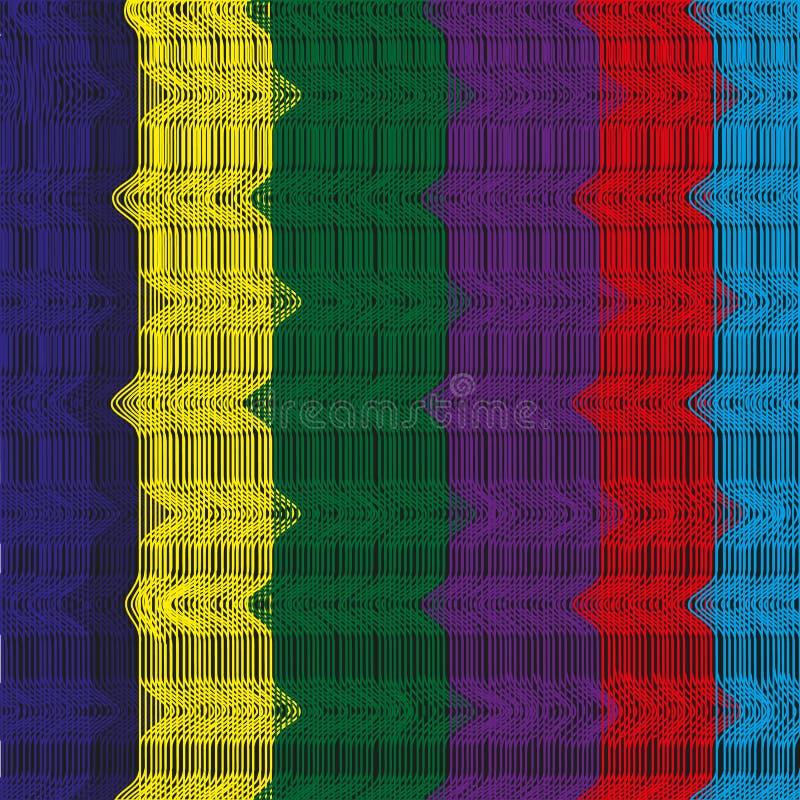 Fundo da linha colorida ilustração do vetor
