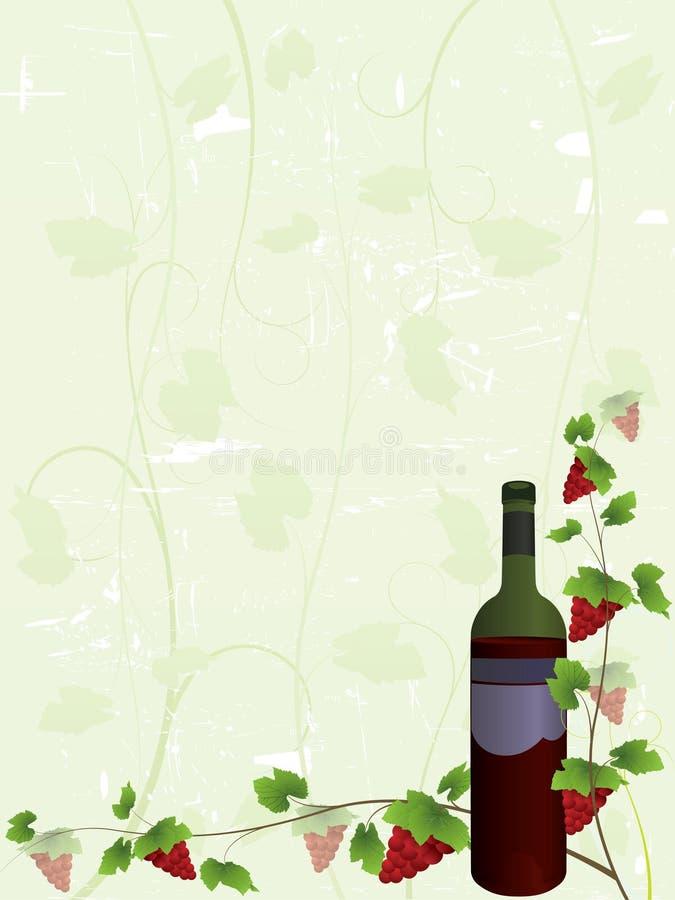Fundo da lista de vinho ilustração do vetor
