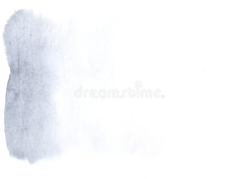 Fundo da lona da aquarela de Airy Blue ilustração royalty free