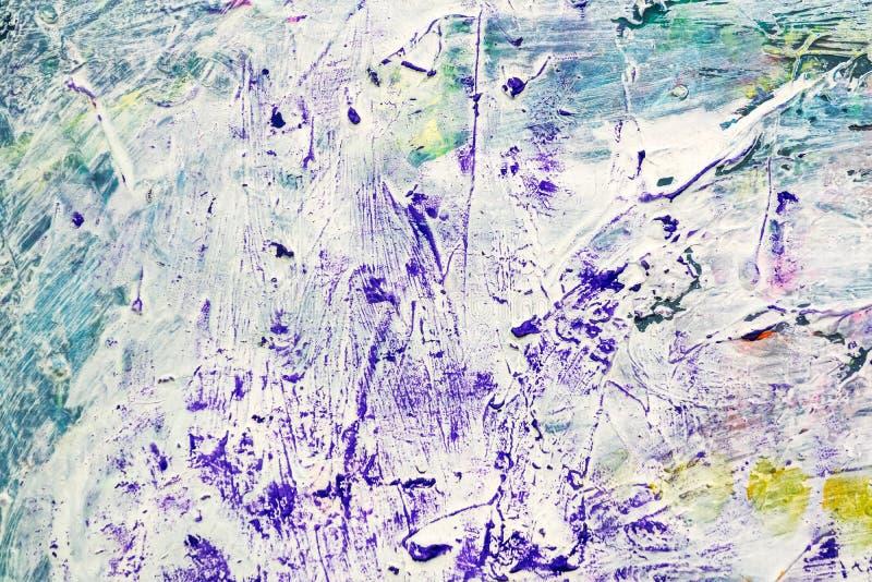 Fundo da lona do Grunge com cursos expressivos da escova de pintura imagem de stock