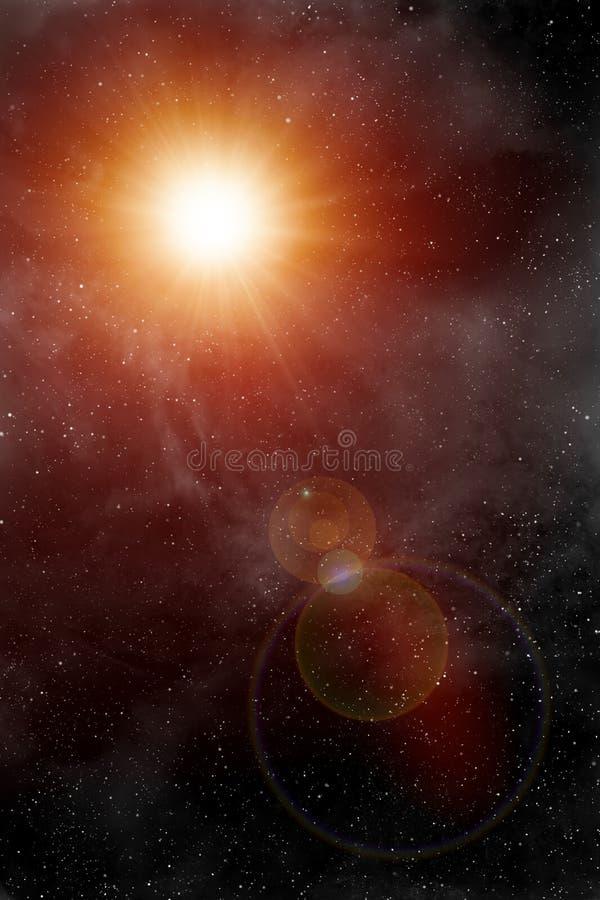 Fundo da luz das estrelas ilustração do vetor