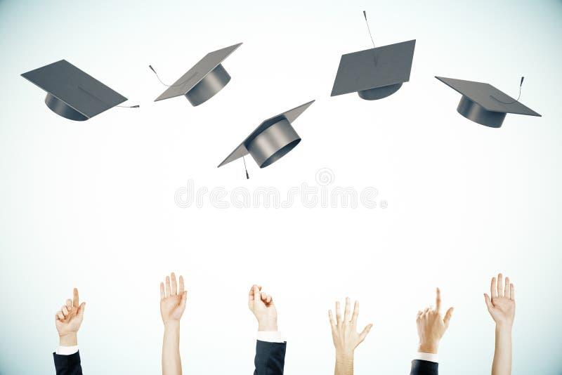 Fundo da luz do conceito da graduação ilustração do vetor