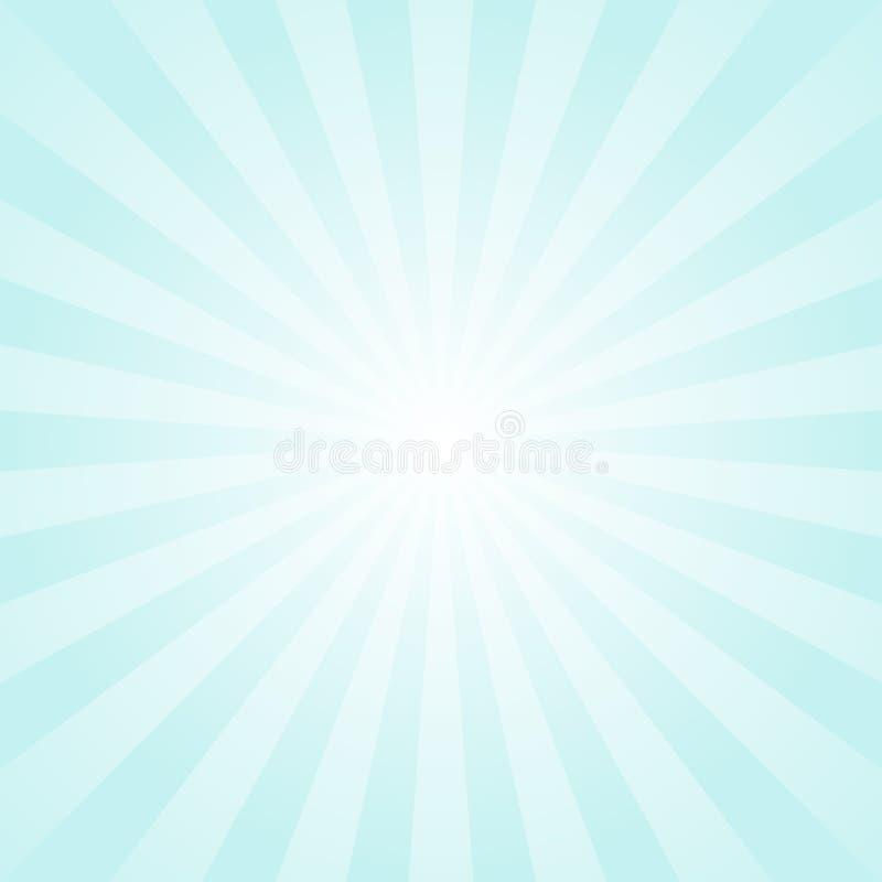 Fundo da luz solar Empalideça - o fundo azul da explosão de cor com destaque branco Ilustração do vetor da fantasia ilustração royalty free