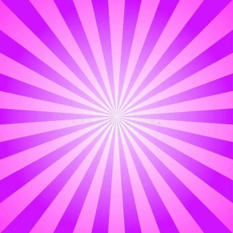 Fundo da luz solar Fundo violeta e cor-de-rosa da explosão de cor Ilustração do vetor da fantasia Sol mágico ilustração do vetor