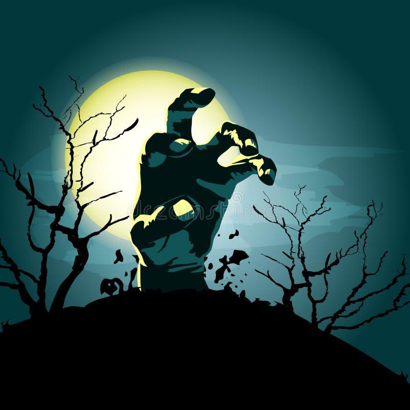 Fundo da mão do zombi ilustração stock