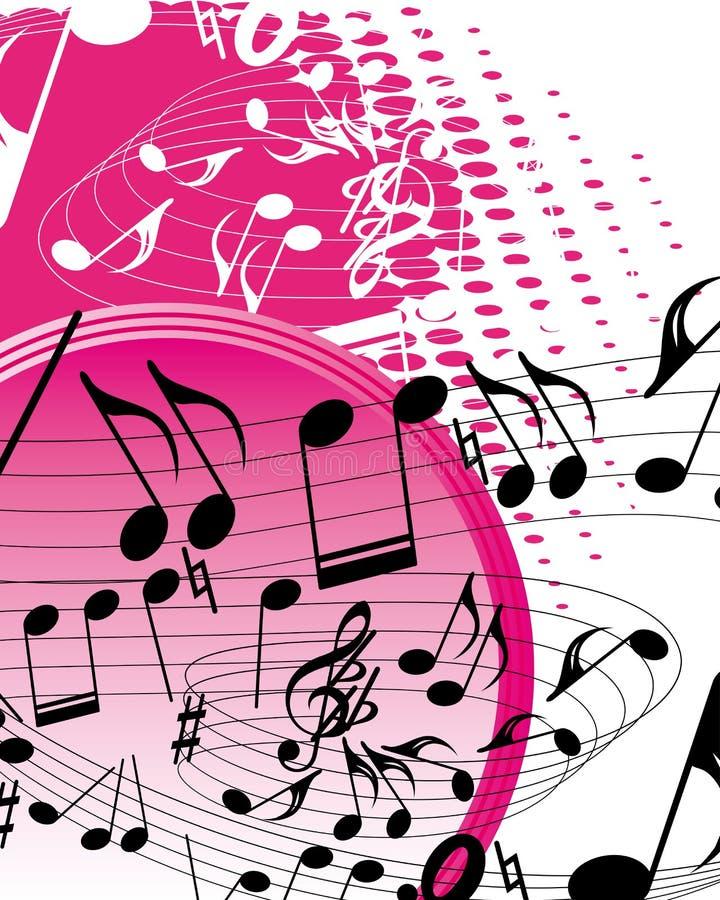 Fundo da música ilustração royalty free