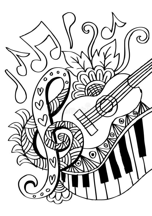 Fundo da música com guitarra ilustração do vetor