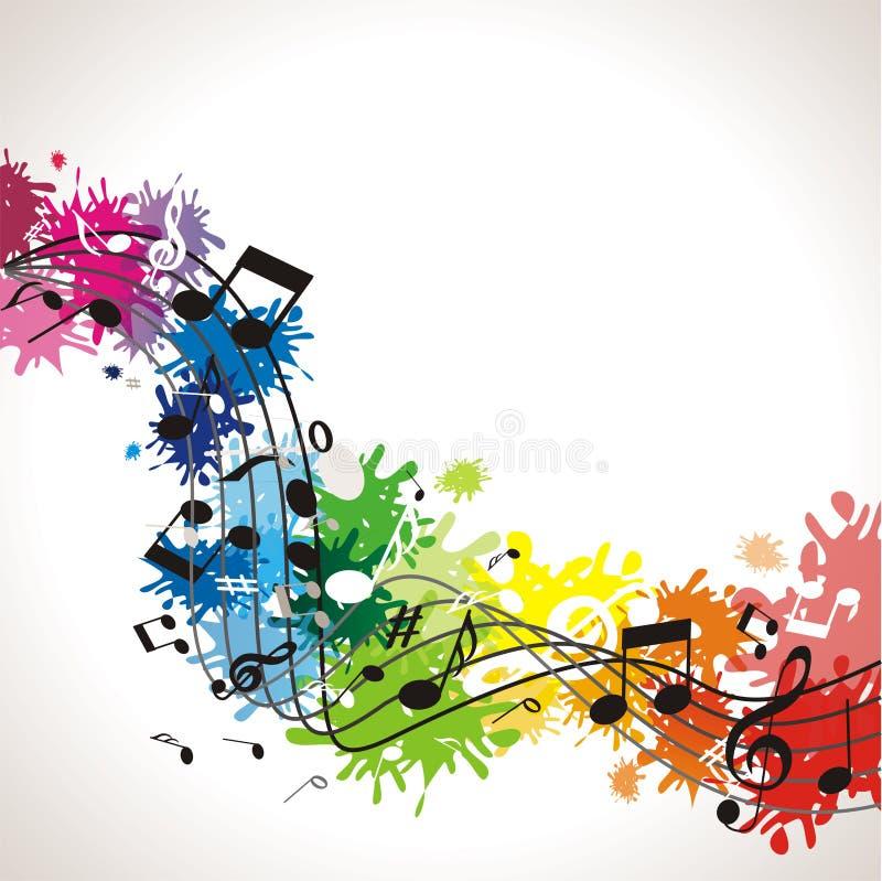 Fundo da música com notas ilustração royalty free