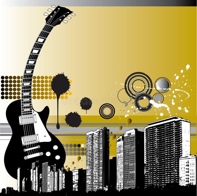 Fundo da música de Grunge ilustração royalty free