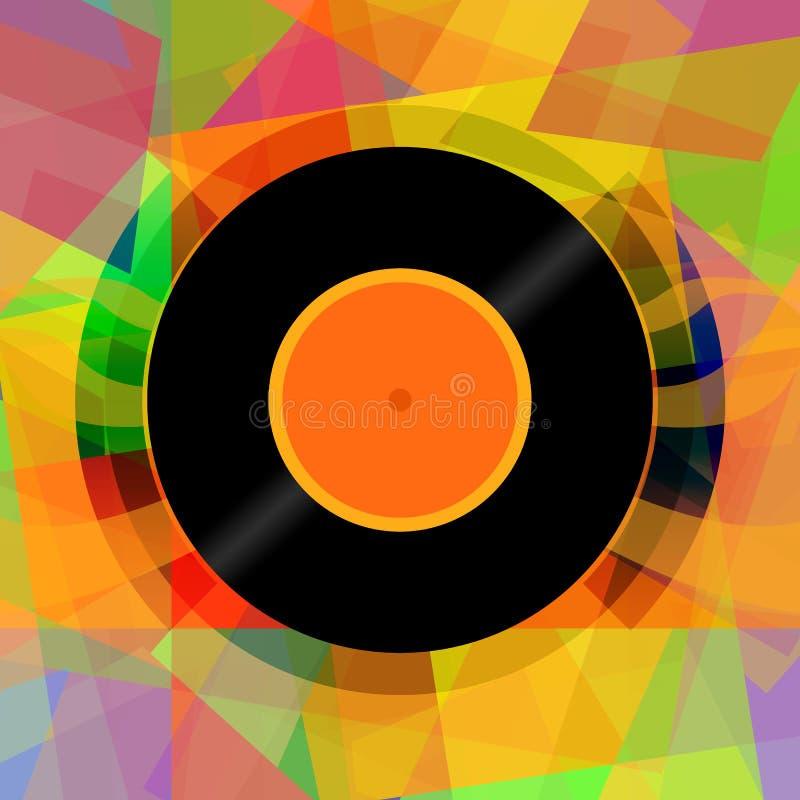 Fundo da música do sumário do disco do vinil ilustração stock