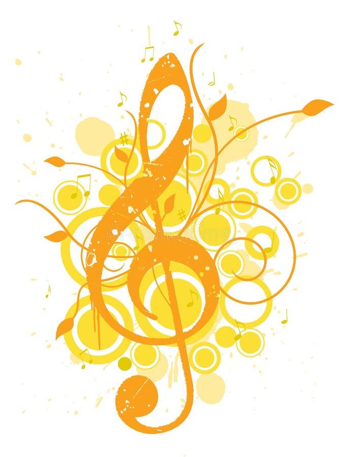 Fundo da música do verão ilustração stock