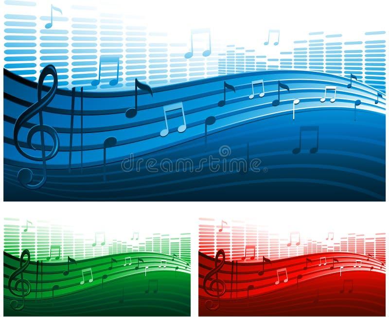 Fundo da música do vetor ilustração royalty free