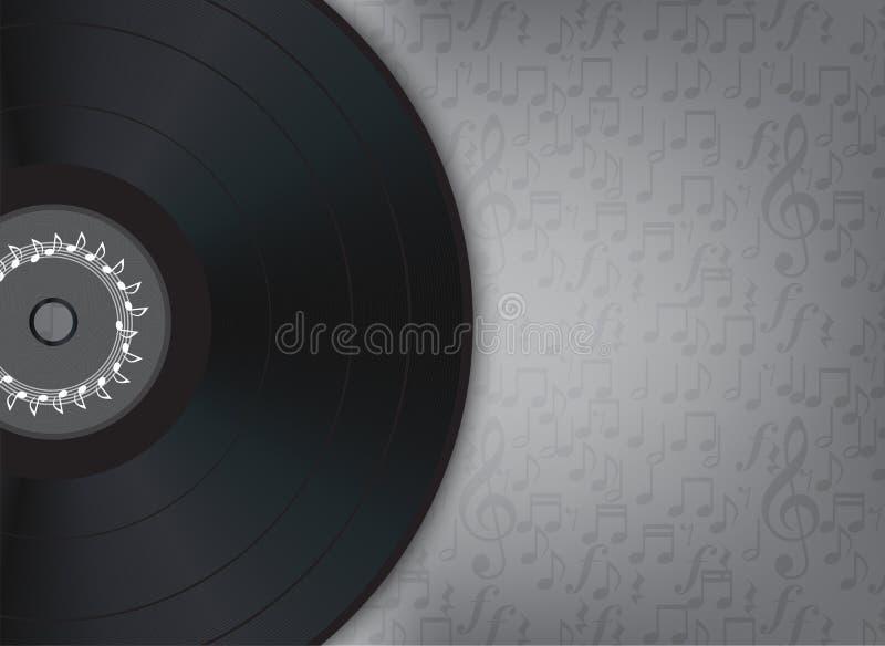 Fundo da música do vinil ilustração royalty free