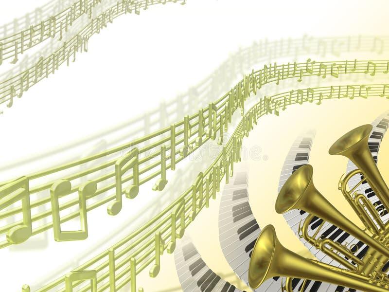 Fundo da música dois ilustração do vetor