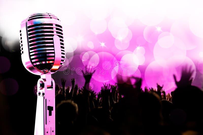 Fundo da música a o vivo. ilustração stock