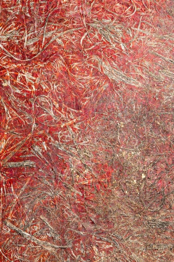 Fundo da madeira compensada plástica vermelha imagens de stock royalty free
