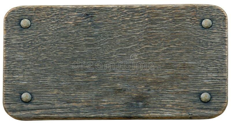Fundo da madeira do sinal do Nameboard fotografia de stock royalty free