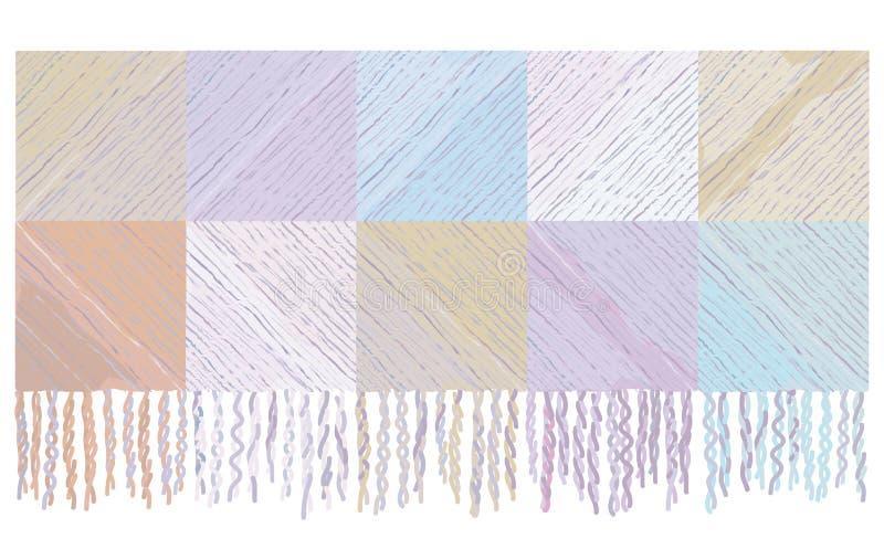 Fundo da manta do cobertor de lãs ilustração stock