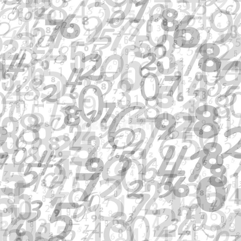 Fundo da matemática - teste padrão diferente dos números ilustração royalty free