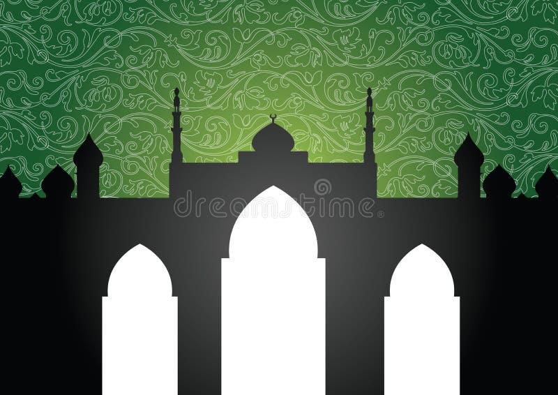 Fundo da mesquita ilustração do vetor