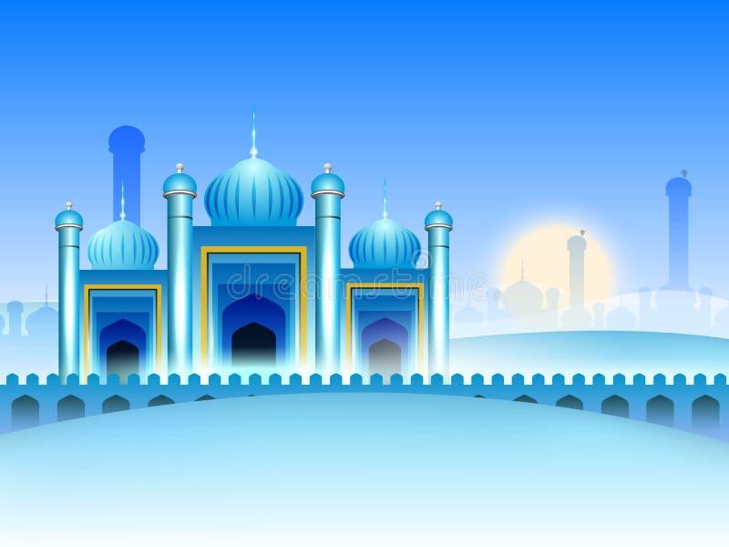 Fundo da mesquita para Ramadan Kareem. ilustração do vetor