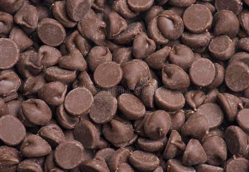 Fundo da microplaqueta de chocolate fotos de stock royalty free