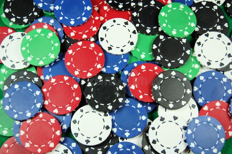 Fundo da microplaqueta do póquer imagem de stock