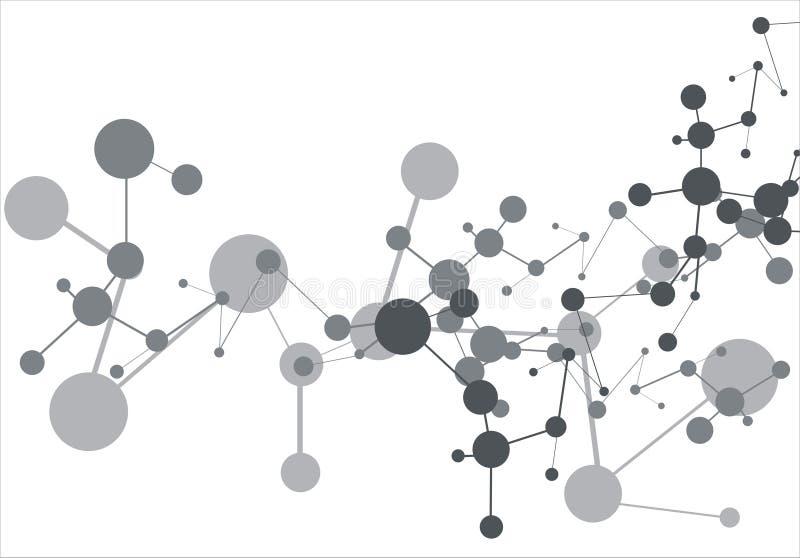Fundo da molécula ilustração do vetor