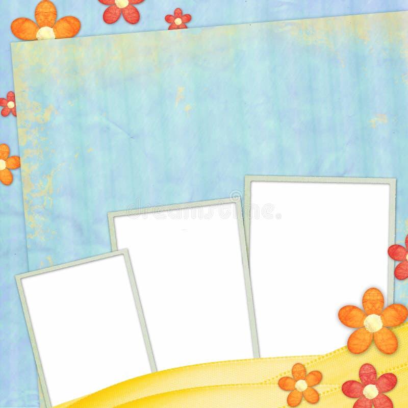 Fundo da mola com frames ilustração do vetor
