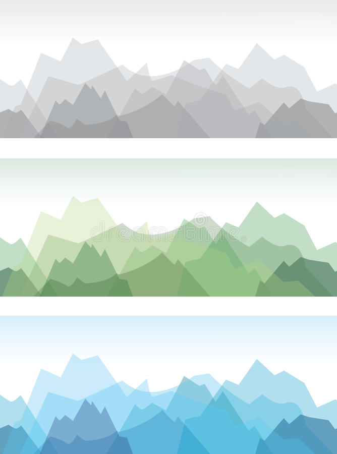 Fundo da montanha ilustração stock