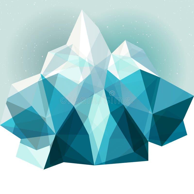 Fundo da montanha do gelo ilustração do vetor