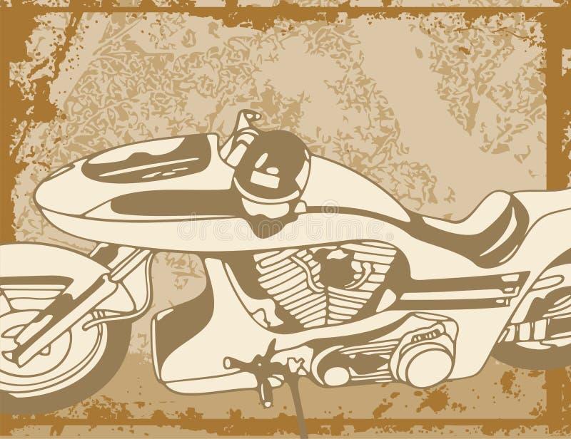 Fundo da motocicleta ilustração stock