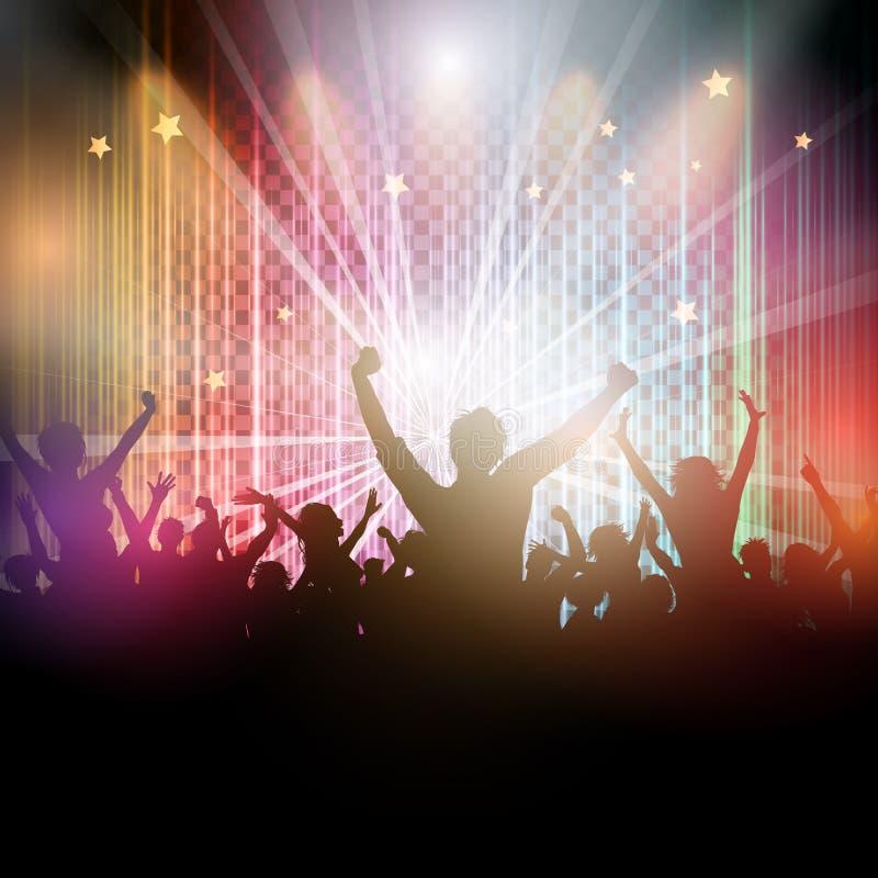 Fundo da multidão do disco ilustração royalty free