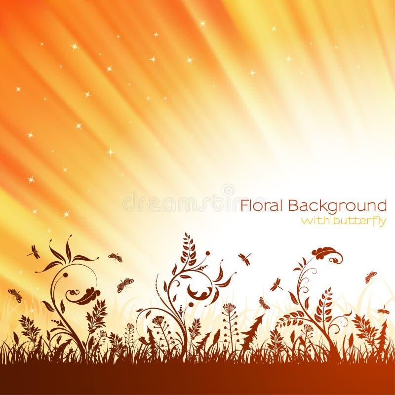 Fundo da natureza ilustração royalty free